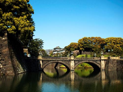 Jembatan Nijubashi di Taman Istana Kaisar
