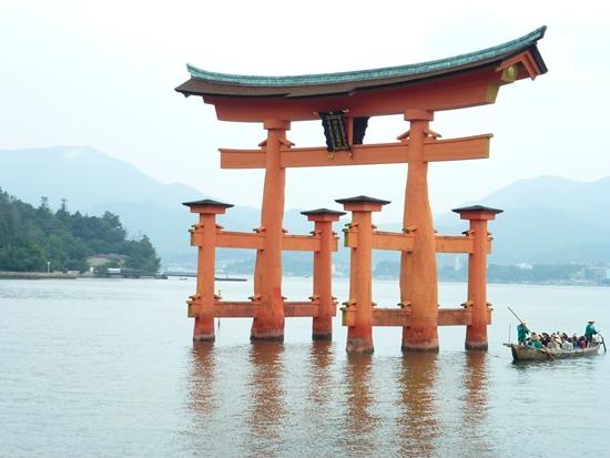 Torii di Kuil Itsukushima Miyajima
