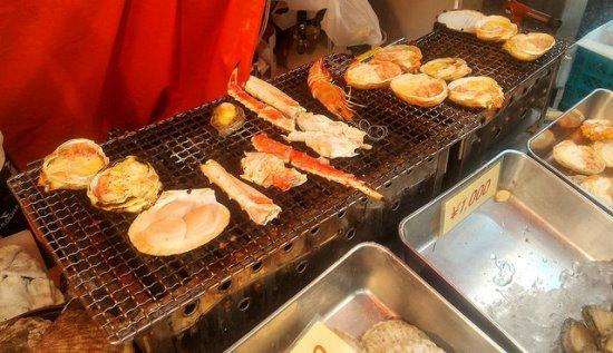 BBQ di Kuromon Ichiba Nipponbashi Osaka