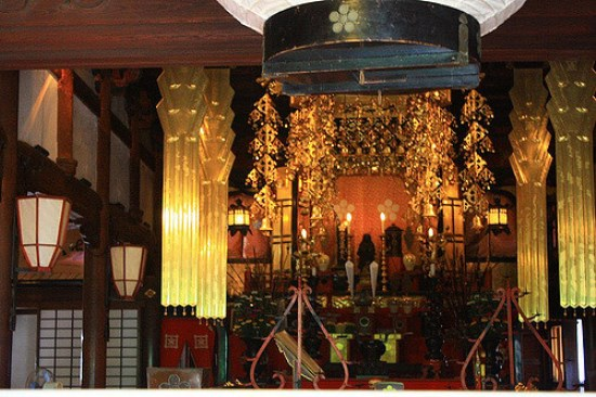 Bagian dalam Kuil Ninja Myoryuji