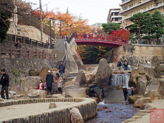 Berkeliling daerah Arima Onsen