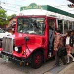 Bus Keliling Kanazawa bewarna merah