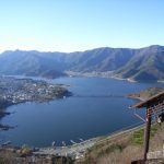 Danau Kawaguchiko dari Kachikachi-yama Ropeway
