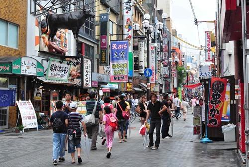 Suasana di Dotonbori Street Osaka
