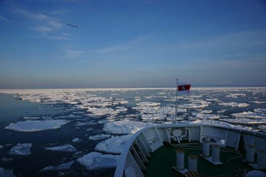Es terapung di Abashiri