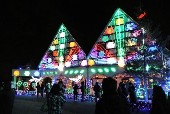 Flower house saat Iluminasi Tokyo German Village