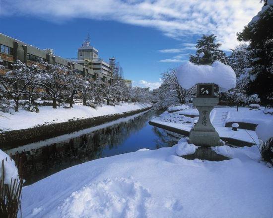 Foto Matsukawa River Cruise saat musim dingin