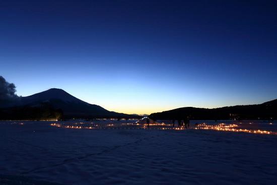 Foto Yamanakako Ice Candle Festival