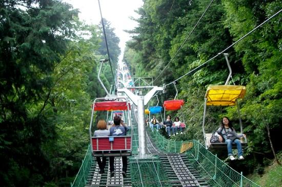 Gondola sampai ke puncak Gunung Takao
