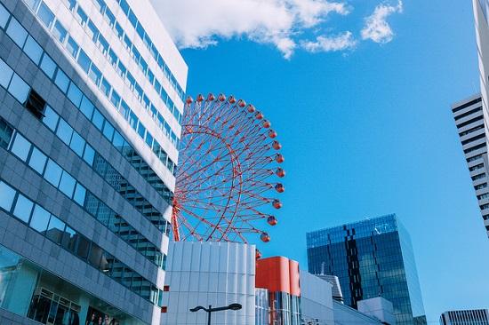 HEP Ferris Wheel di Umeda Osaka