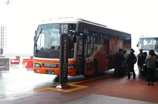Halte keberangkatan Limousine Bus Terminal 1 Narita