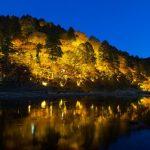 Iluminasi Momiji di Korankei