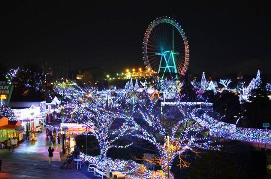 Iluminasi Musim Dingin di Yomiuri Land Tokyo