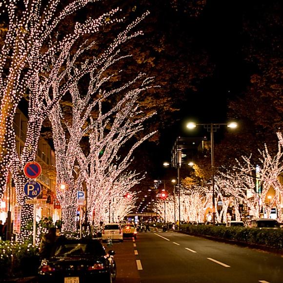 Iluminasi Natal Omotesando