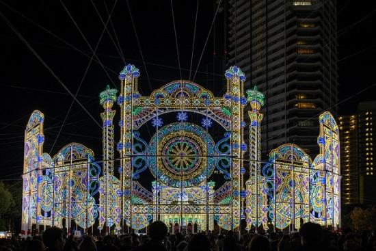 Iluminasi Terindah di Kansai Kobe Luminarie