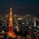Iluminasi Tokyo Tower yang keren di malam hari