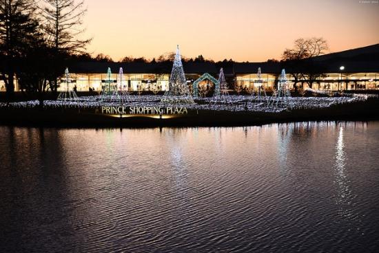 Iluminasi di Karuizawa Prince Shopping Plaza