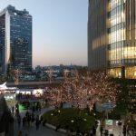 Iluminasi malam Stasiun Osaka