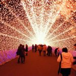 Iluminasi musim dingin di Nabana no Sato