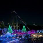 Iluminasi musim dingin di Yomiuri Land