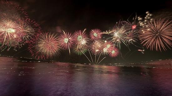Indahnya Festival Kembang Api di Danau Biwako