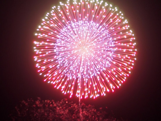 Indahnya festival kembang api di Showa Kinen Koen