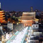 Info Wisata di Asakusa Panorama di waktu malam