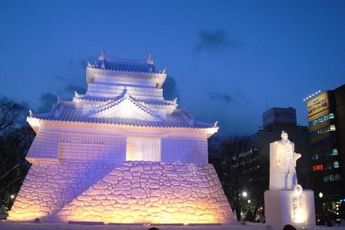Istana Osaka di Festival musim salju Sapporo