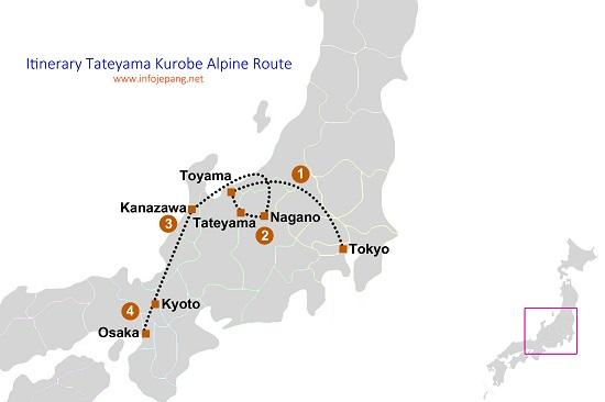 Itinerary Tateyama Kurobe Alpine Route