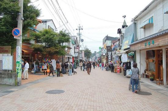 Jalan Karuizawa Ginza di Kyu-Karuizawa