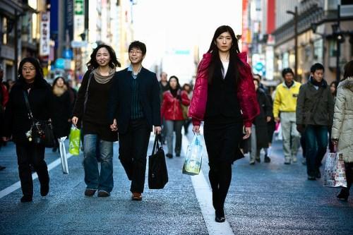 Jalan kaki berkeliling di Ginza Jepang