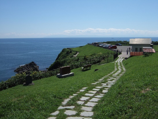 Jalan menuju ke Cape Tachimachi di Hakodate