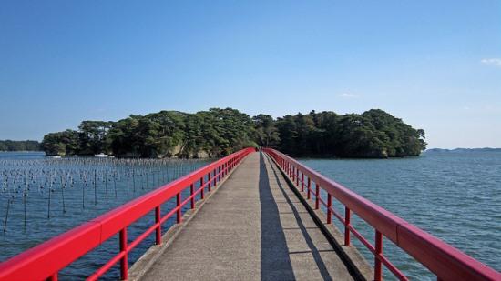 Jembatan Fukuurabashi di Matsushima Sendai