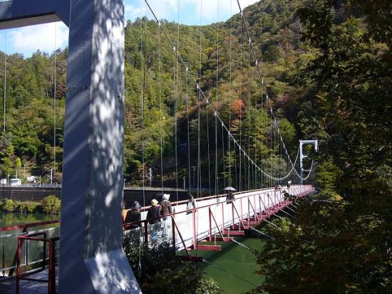 Jembatan di Tebing Tenryukyo Nagano