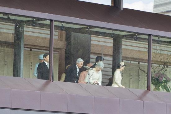 Kaisar dan permaisuri Jepang memberikan salam di tahun baru