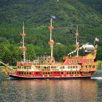 Kapal wisata bajak laut di Danau Ashinoko