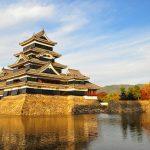 Kastil Matsumoto di musim gugur