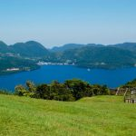 Keindahan Danau Ashinoko dari atas gunung