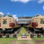 Kereta ekspress Tipe 485 yang jadi koleksi Museum Kereta Saitama