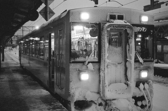 Kereta lokal di Hokkaido