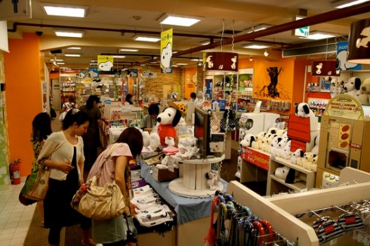 Kiddy Land Omotesando Harajuku: Area Peanuts and Snoopy