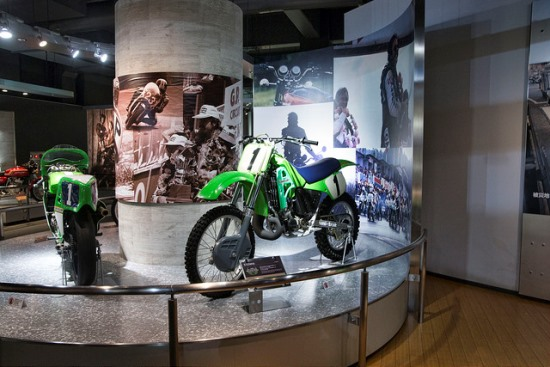 Koleksi motor di Museum Kawasaki World Kobe
