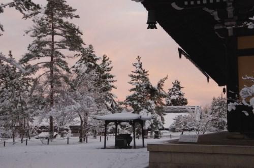 Kuil Nanzenji Kyoto saat musim dingin