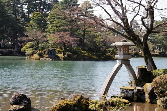 Lentera Kotojitoro di Taman Kenrokuen