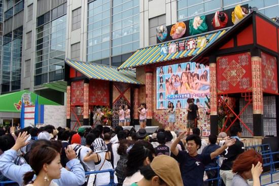 Liburan di Odaiba: Panggung Outdoor Gedung Fuji Television