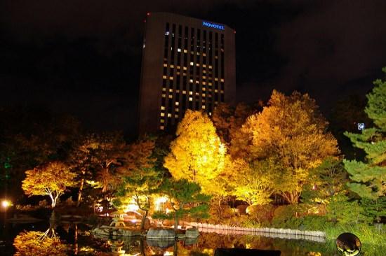 Lighting up di Taman Nakajima Sapporo