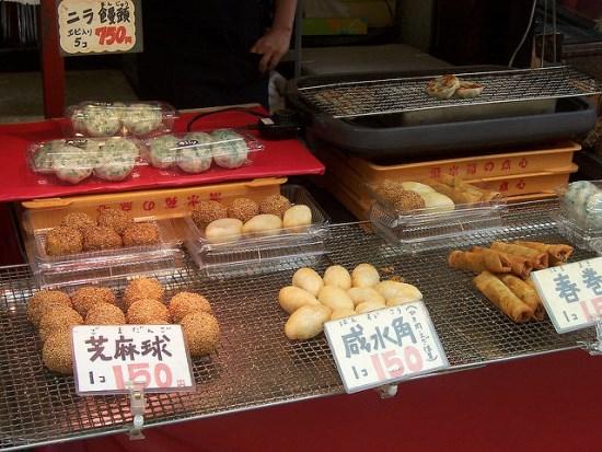 Makanan pecinan di Kobe Chinatown