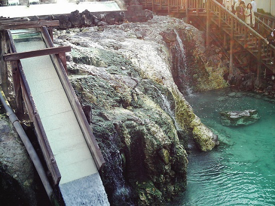 Mata air panas Kusatsu Onsen