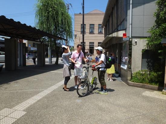 Mencoba naik machinori di Kanazawa