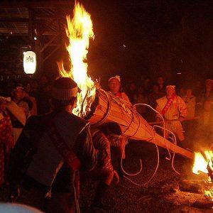 Mengikuti Festival Api Kurama di Kyoto